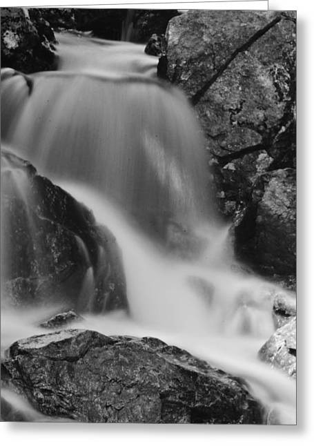 Roger Lewis Greeting Cards - Falls in Black and White Greeting Card by Roger Lewis