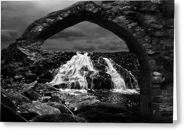 Riverbed Greeting Cards - Falls Greeting Card by Jack Zulli