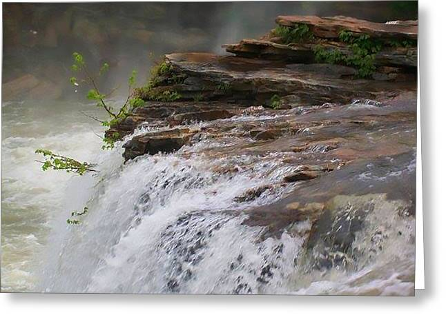 Fall Scenes Greeting Cards - Falls of Alabama Greeting Card by Mechala  Matthews