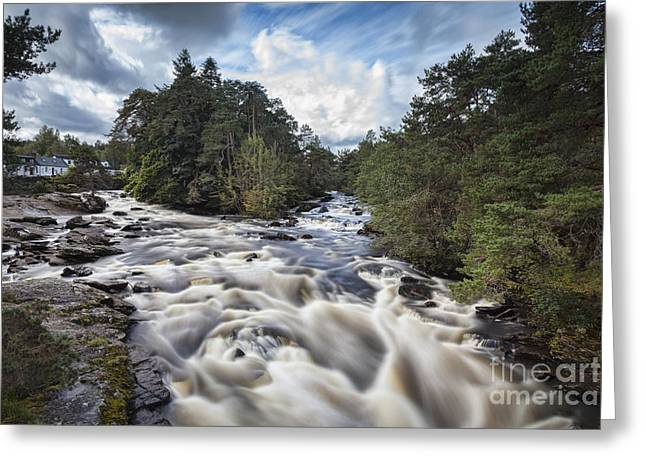 Rapids Greeting Cards - Falls of Dochart Scotland Greeting Card by Colin and Linda McKie