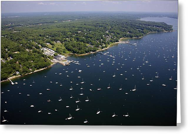 Falmouth Massachusetts Greeting Cards - Falmouth Foreside, Town Landing Greeting Card by Dave Cleaveland