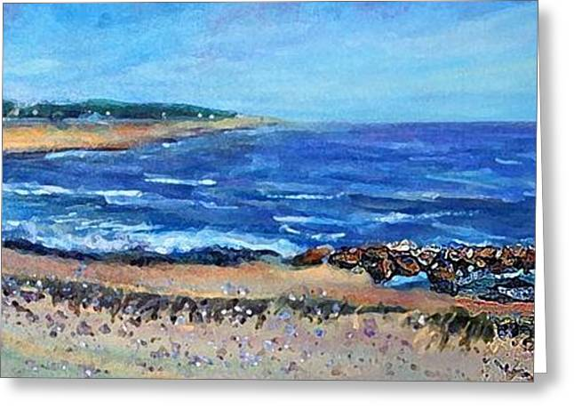 Falmouth Massachusetts Greeting Cards - Falmouth Heights Beach Greeting Card by Rita Brown