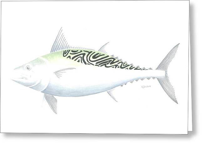 Albacore Greeting Cards - False Albacore Greeting Card by Susan A Grainger