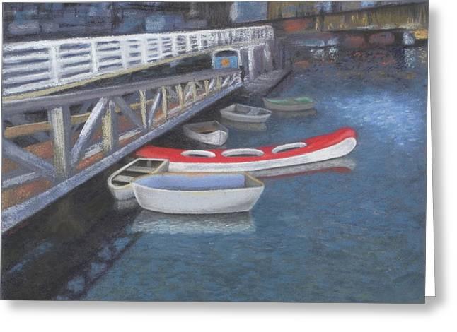 Vancouver Pastels Greeting Cards - False Creek Ferry Landing Greeting Card by Brenda Salamone