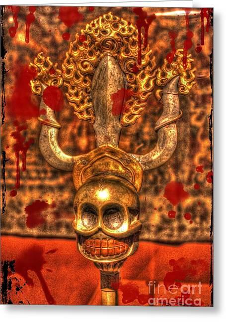 Baal Greeting Cards - False Idol Greeting Card by Dan Stone