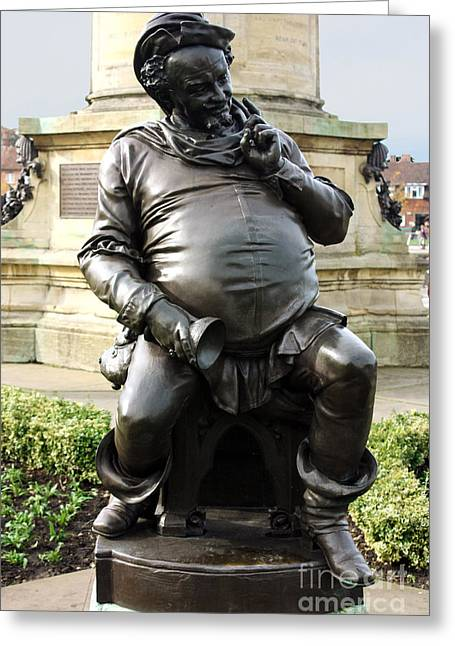 Falstaff Greeting Cards - Falstaff at the Gower Memorial Stratford Upon Avon Greeting Card by Terri  Waters
