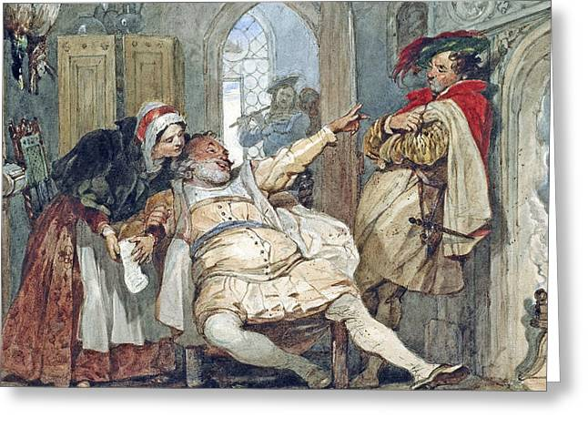 Debt Greeting Cards - Falstaff Bardolph and Dame Quickly Greeting Card by Francis Phillip Stephanoff