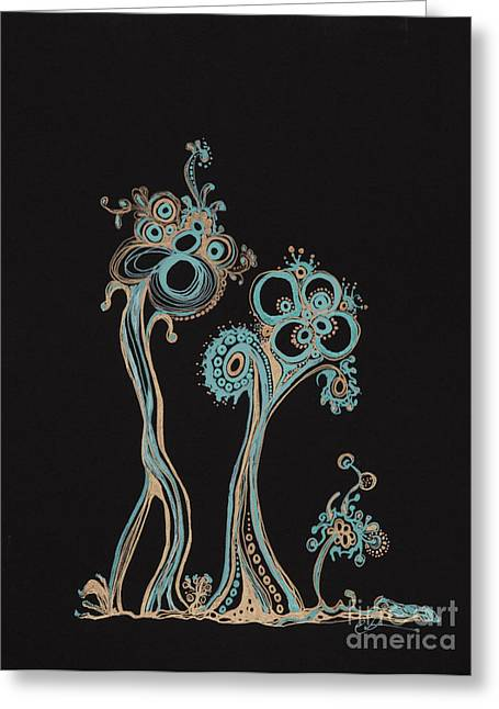 Pen And Ink Drawing Greeting Cards - Families 12 Greeting Card by Christina Naman