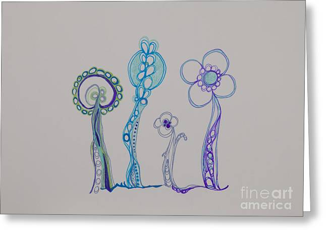 Painted Details Drawings Greeting Cards - Families 23 Greeting Card by Christina Naman
