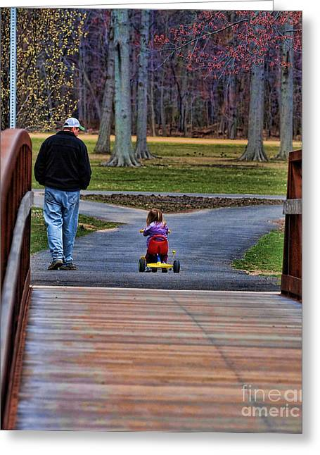 Special Moment Greeting Cards - Family - A Fathers Love Greeting Card by Paul Ward