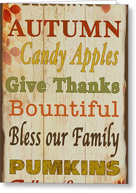 Harvest Art Greeting Cards - Family and Friends Blessings-C Greeting Card by Jean Plout