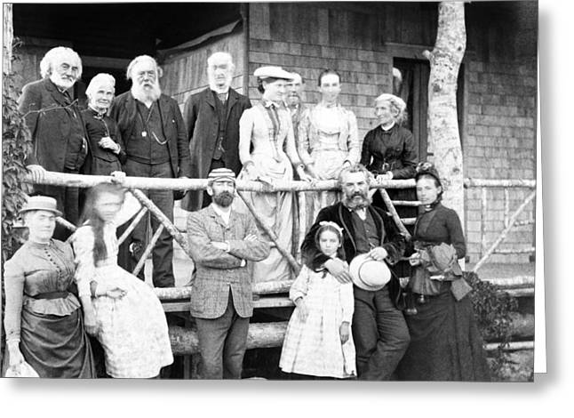 Black Lodge Greeting Cards - Family and friends of A. G. Bell, 1890 Greeting Card by Science Photo Library