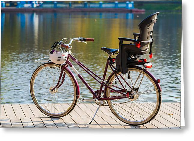 Family Bike - Featured 3 Greeting Card by Alexander Senin