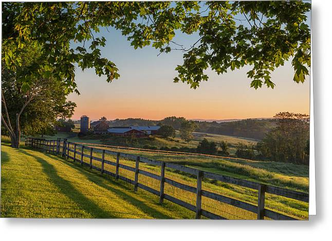 Family Farm Greeting Card by Bill  Wakeley