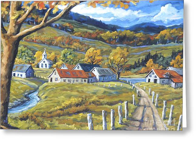 Canadian Greeting Cards - Family Farms by Prankearts Greeting Card by Richard T Pranke