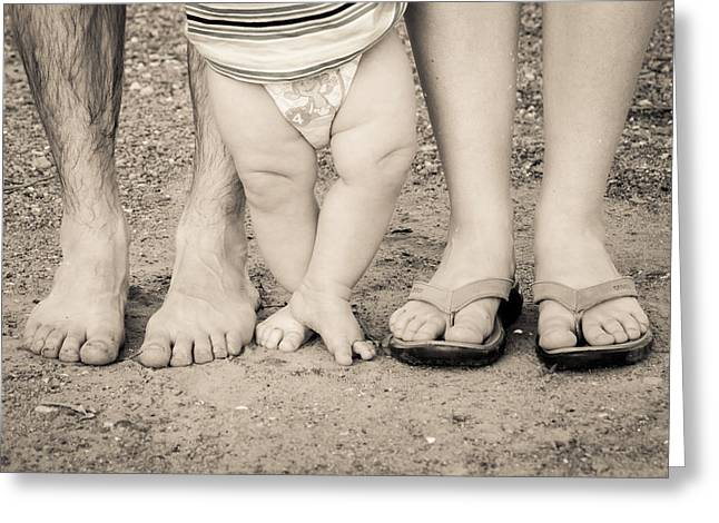 Family Feets Greeting Card by Bill Pevlor