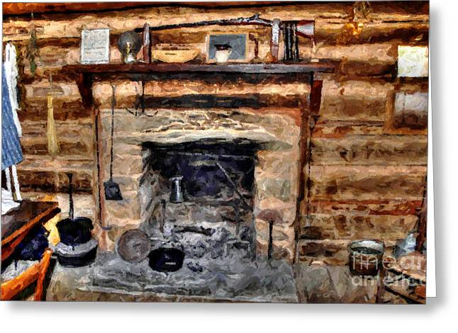 Pan Cake Greeting Cards - Family Kitchen Greeting Card by Michael Braham