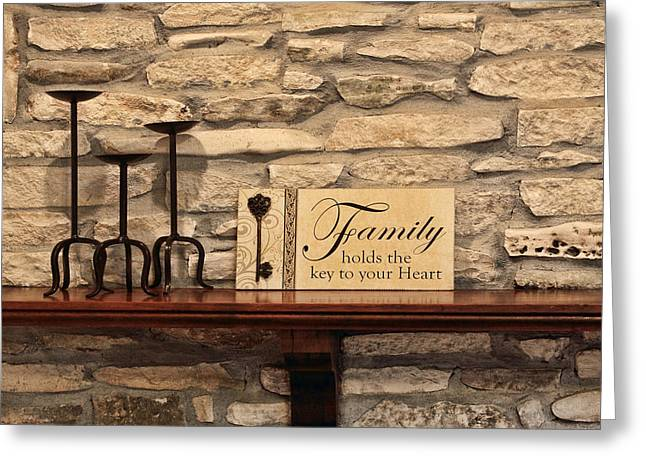 Family Greeting Card by Linda Phelps