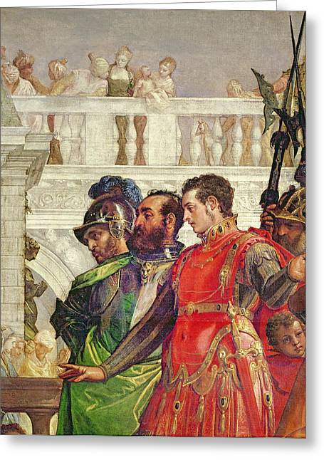 Mannerist Greeting Cards - Family Of Darius Before Alexander The Great 356-323 Bc Detail Of 2915 Greeting Card by Veronese