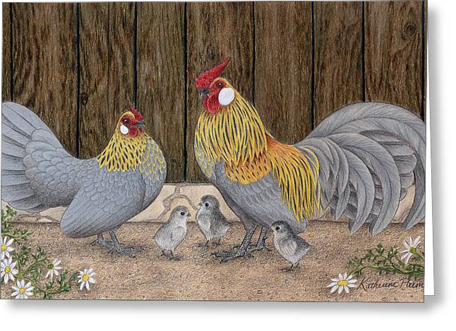 Barn Drawings Greeting Cards - Family Outing Greeting Card by Katherine Plumer