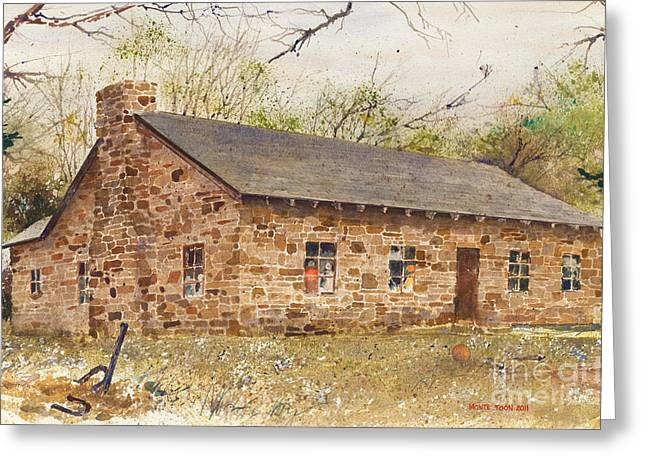 Built Paintings Greeting Cards - Family Reunion Greeting Card by Monte Toon