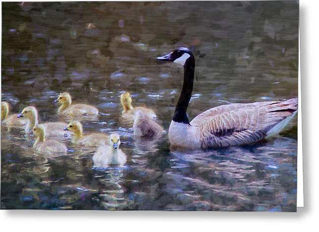 Mother Goose Greeting Cards - Family Time Greeting Card by John Rivera