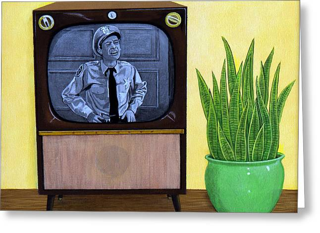 Television Paintings Greeting Cards - Family Time Greeting Card by Snake Jagger