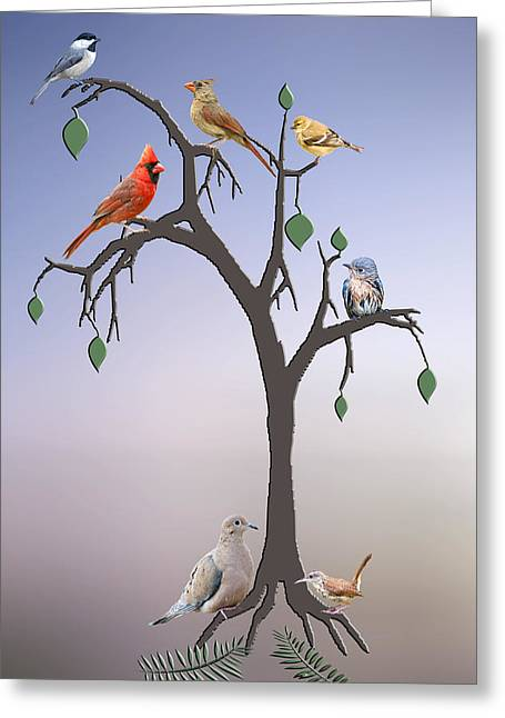 Family Tree Greeting Cards - Family Tree Greeting Card by Bonnie Barry