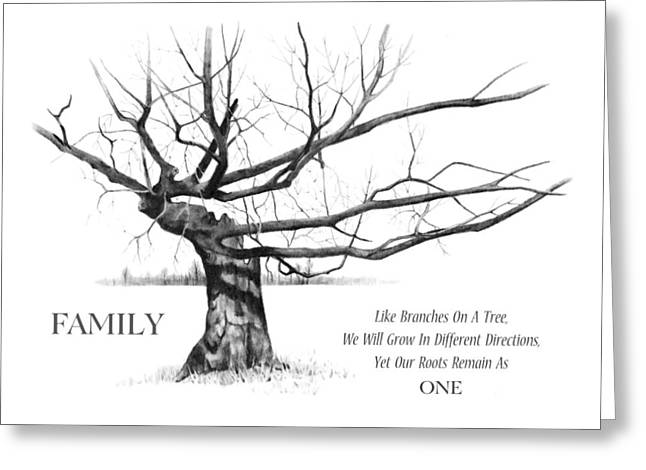 Family Tree Greeting Card by Joyce Geleynse