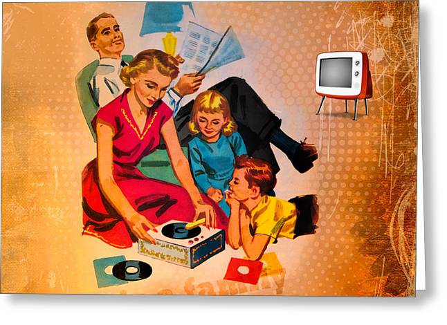 Respectable Greeting Cards - Family values Greeting Card by Gillian Singleton