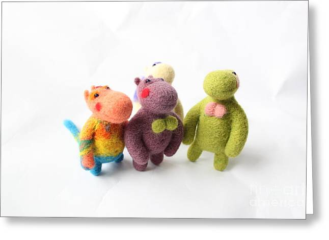 Felting Greeting Cards - Family Greeting Card by Vera Dg