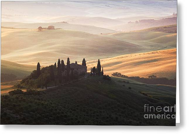 Colombos Greeting Cards - Famous Belvedere mansion Tuscany Italy Greeting Card by Matteo Colombo