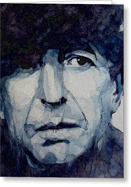 Icon Paintings Greeting Cards - Famous Blue raincoat Greeting Card by Paul Lovering
