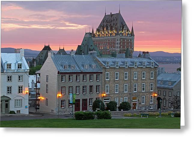 Chateau Greeting Cards - Famous Chateau Frontenac in Quebec City Greeting Card by Juergen Roth