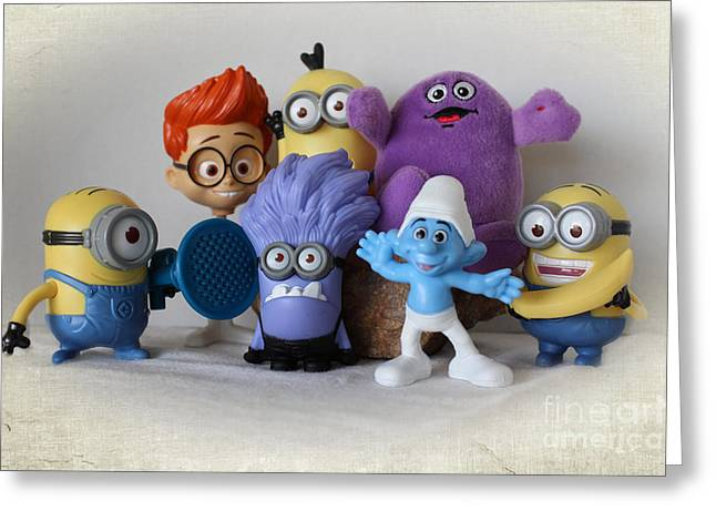 Despicable Me Greeting Cards - Famous Faces - Celebrity Portrait Greeting Card by Ella Kaye Dickey