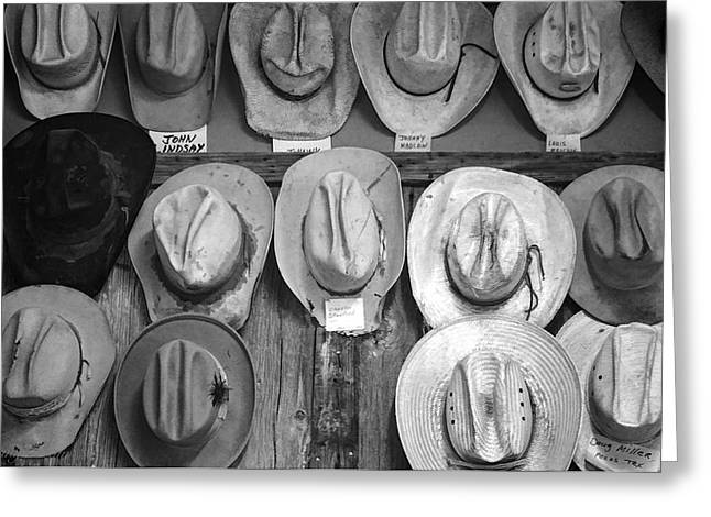 West Of The Pecos Greeting Cards - Famous Hats Greeting Card by Britt Runyon