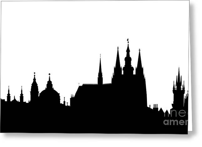 famous landmarks of Prague Greeting Card by Michal Boubin