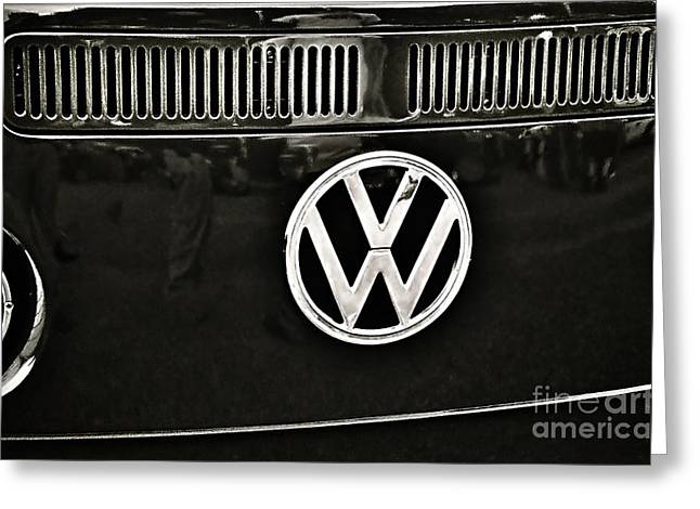 The Love Bug Greeting Cards - Famous Letters by Volkswagen Greeting Card by JW Hanley