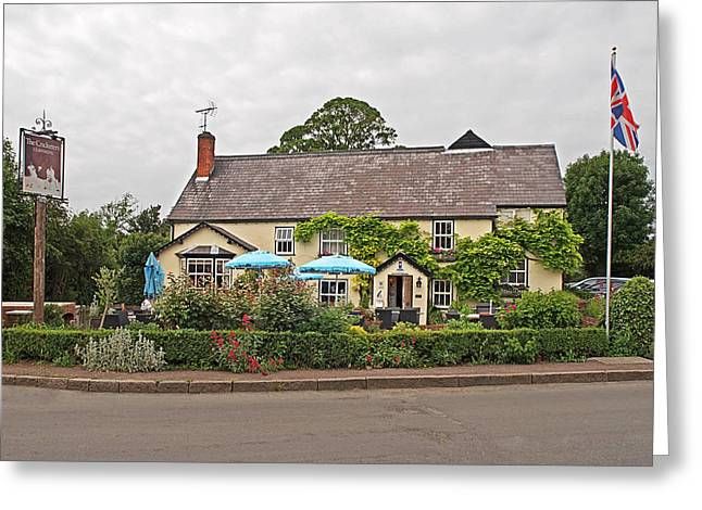 Old Inns Greeting Cards - Famous Pub -The Cricketers Clavering Greeting Card by Gill Billington