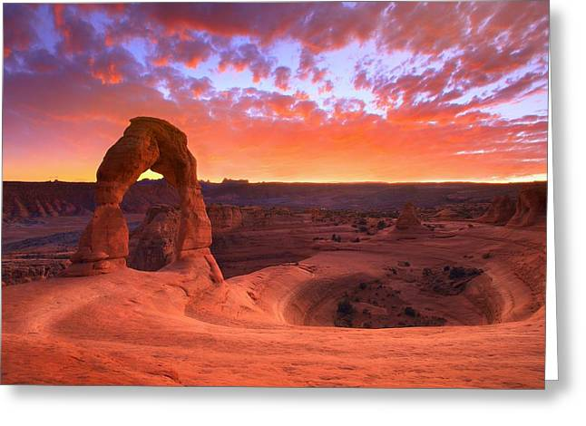 Famous Sunset Greeting Card by Kadek Susanto