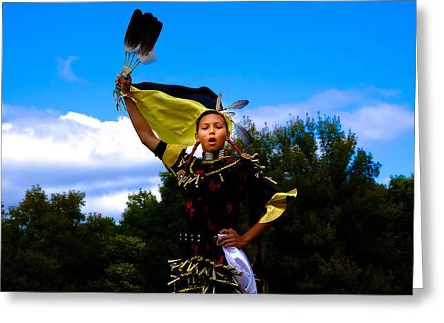 Fancy-dancer Greeting Cards - Fan Fair Greeting Card by Valerie  Avalos