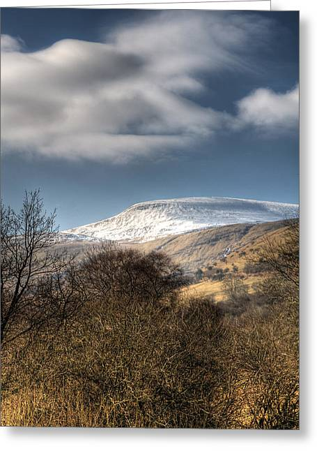 Waterscapes Of Wales Greeting Cards - Fan Fawr Brecon Beacons 1 Greeting Card by Steve Purnell