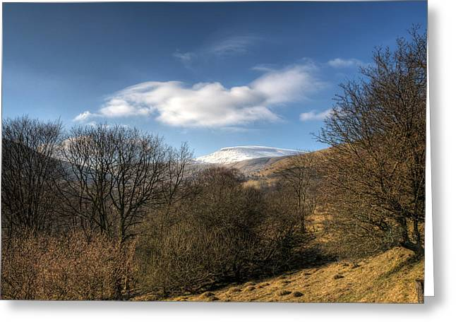 Waterscapes Of Wales Greeting Cards - Fan Fawr Brecon Beacons 2 Greeting Card by Steve Purnell