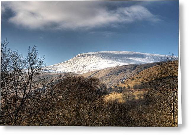 Welsh Reservoirs Greeting Cards - Fan Fawr Brecon Beacons 3 Greeting Card by Steve Purnell