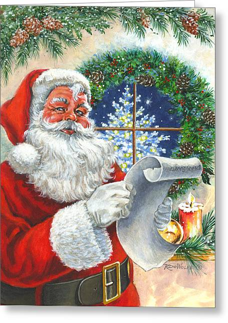 Old Saint Nick Greeting Cards - Fan Mail Greeting Card by Richard De Wolfe