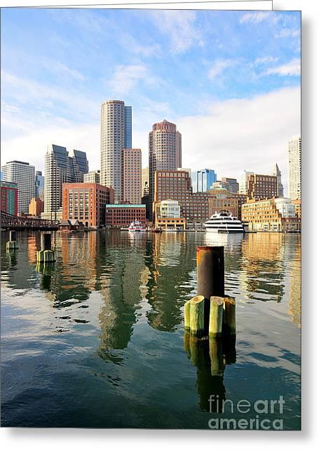 Fan Pier Greeting Cards - Fan Pier Boston Greeting Card by Catherine Reusch  Daley