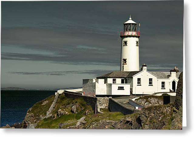 Jane Mcilroy Greeting Cards - Fanad Head Lighthouse Greeting Card by Jane McIlroy