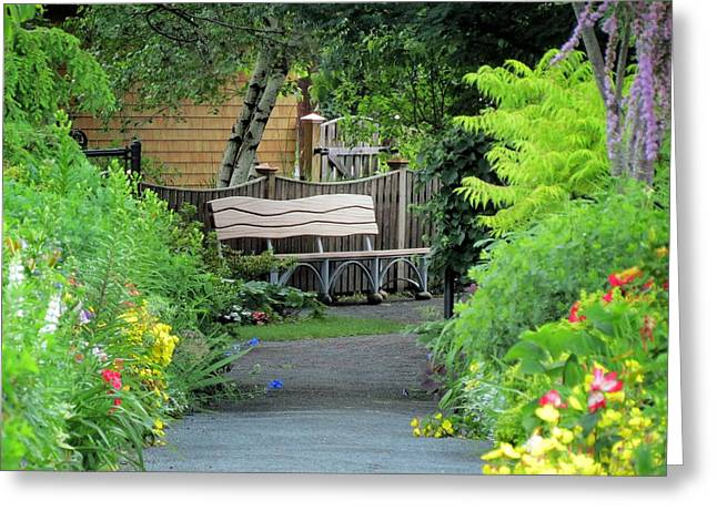 Fancy Bench Greeting Card by MTBobbins Photography