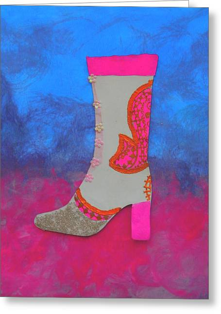 Fancy Boots Greeting Cards - Fancy Boot Greeting Card by Faith Riverstone Designs