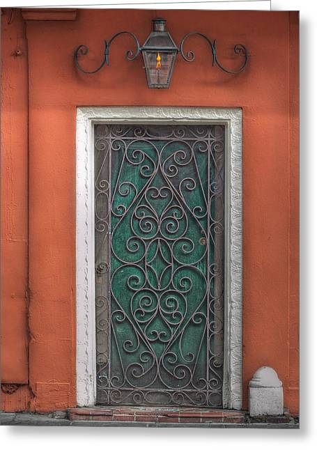 French Quarter Doors Greeting Cards - Fancy Greeting Card by Brenda Bryant